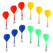 MagiDeal 12 Pieces/Pack Durable Safety Replacement Magnetic Darts Mix Colour