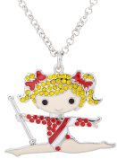 Lovely Gymnastics Girl Pendant Necklace for Girl Women Gifts Jewellery