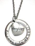 Double Heart Pendant Necklace And Ring With Written Forever In My Heart Forever In My Heart Daughter Daughter