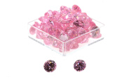 Birth Stone Jewels 4mm Pink Sapphire Round Briliant Cut Cubic Zirconia Gem Stones Pack Of 2