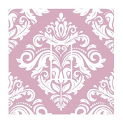 Sticar-it Ltd White & Dusky Pink Oriental Style Damask Pattern Light Switch Sticker vinyl cover skin decal For Any Room