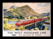 "National Railway Museum ""The West Highland Line"" Framed Print, Multi-Colour, 30 x 40 cm"