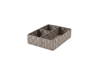 Compactor Stan 3 Compartment Drawer Storage Organiser, 32 x 25 x 8cm, Taupe