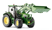 Wiking 7344 John Deere 6125R With Front Loader
