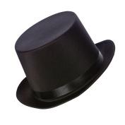 Deluxe Satin Black Top Hat Fancy Dress Accessory