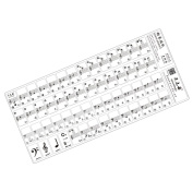 MagiDeal Transparent 49 61 Key Electronic Keyboard 88 Key Piano Stave Note Sticker