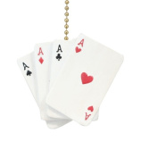 Poker Hand Aces Hearts Diamonds Spades Clubs Ceiling Fan Light Pull