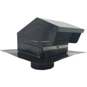 Builders Best 012635 Black Metal Roof Vent Cap, 10cm Collar