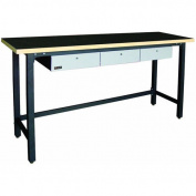 Homak GS00579030 200cm . 3 Drawer Wood Top Workbench