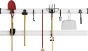 Gladiator GearTrack Channel Garage Storage Kit with 8 Hooks