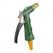 Unique BargainsGardening Tool Watering Rear Trigger Hose Nozzle Spray Gun Green