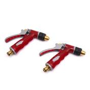 2Pcs Red High Pressure Spray Gun Nozzle Auto Car Water Washing Hose Trigger