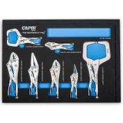 Capri Tools Klinge Locking Pliers Set with The Mechanic's Tray, 7-Piece