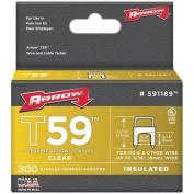 Arrow Fastener 0.8cm x 0.8cm Clear T59 Staples