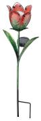 Regal Art & Gift Solar Tulip Stake, Red/Green