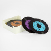 Glass Record Coasters 6 Pack