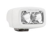 Rigid Industries 942113 SR-M Series Pro Flood Light; Surface Mount; Hybrid; 2 White LEDs; White Rectangular Housing; Single;