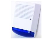 Dummy Burglar Alarm Box - Solar Powered - Dummy Alarm Siren - Blue Lens - Flashing LED Light