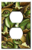 Art Plates brand - Outlet Cover Wall Plate - Baby Dinosaurs