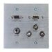 C2G HDMI VGA 3.5mm Composite Video and Stereo Audio Pass-through Wall Plate - mounting plate