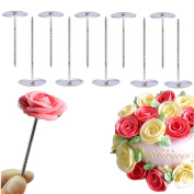 10PCS Cake Core, WCIC Heating Core for Baking Evenly Baked Cakes Cupcake Decorative Base Lifter Nail Tool