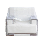 TopSoon Plastic Chair Cover (Pack of 2) Sofa Cover for Storage or Protection 120cm X 190cm