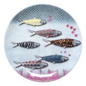Fox Trot fwax3117 Melamine Fish Plate 20 x 20 x 1.5 cm