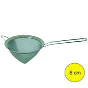 MSV Stainless Steel Conical Sieve, Silver, 8 cm