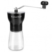 KITCHEN PROP manual coffee grinder Home Edition-ADJUSTABLE CERAMIC CONICAL BURR Mill, AEROPRESS, espresso compatible, BEST Coffee bean grind Maker for Travel, Camping, Hiking, Outdoor, Handheld coffee