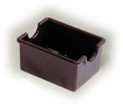 Suger Packet holder. Plastic, chocolate.