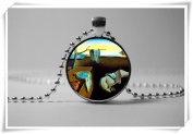 The Persistence of Memory Art Works Glass Necklace Modern artwork