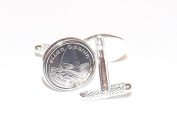 Wind Surfing Cufflinks for the keen windsurfer made from real coins Great mens surfing gift