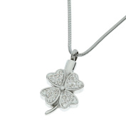 """Urns UK 2 x 2 x 0.3 cm """"Chelsea Design 51"""" Cremation Ashes Jewellery Pendant with Chain, Silver"""