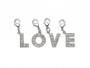 "La Loria LETTER Charms with Lobster clasp ""LOVE"" Accessory for your bracelet or your shoe laces - wonderful gift idea"