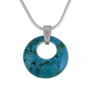 Geo circlet pendant - turquoise on 41cm snake
