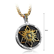 Glamorousky Fashion Hexagram Stainless Steel Necklace