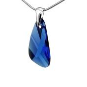 SILVEGO Pendant ® Crystals Wing Capri Blue 23 mm