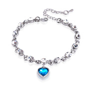 Adjustable Women Dancing Shiny Rhinestone Bead Box Chain Jewellery Bracelet Gift