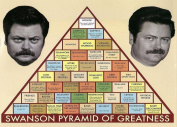 NiceButy Parks and Recreation Swanson Pyramid of Greatness Television Poster 90cm x 60cm