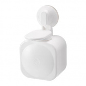 STUGVIK - Soap dispenser with suction cup, white