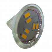 TOOGOO(R) 3W LED Spotlight MR11 6 SMD 5730 270 lm DC 12V, Warm White