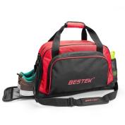 BESTEK Sport Gear Equipment Gym Duffle Bag Travel Luggage Bag Shoulder Handbag Including Shoes Compartment for Men and Women