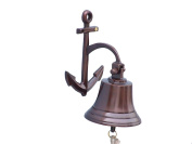 Anchor Antique Copper Bell 10cm - Decorative Copper Bell - Nautical Decoration - Vintage Copper Bell - Copper Hanging Bell