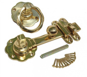 Gate Latch Solid Brass Classic Knob Set With Pull | Renovator's Supply