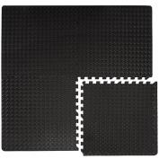 eyepower 4pcs set Protective Flooring Exercise Puzzle Mat 20mm thick each piece 63x63cm incl frame soft EVA foam expandable reversible