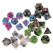 MagiDeal 28pcs Polyhedral Dice D20 D12 D10 D8 D6 D4 for D & D RPG MTG Party Table Game