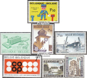 Belgium 1585,1586,1593,1594, 1595,1596-1597 (complete.issue.) unmounted mint / never hinged 1970 special stamps