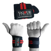 Premium Weight Lifting Wrist Support Grip Wraps With Secure Fully Adjustable Long Hook and loop Gym Straps Perfect For Mass Muscle Building Bodybuilding Power MMA Fitness