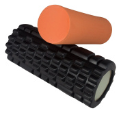 Foam Roller for Deep Tissue Massage and Muscle Massage - 2in1 Roller for Muscles and Fascia - Ideal for CrossFit, fitness, yoga and pilates!