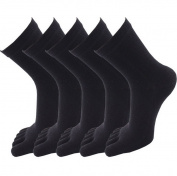 5 Pairs Women's Five Finger Toe Socks Soft Cotton Blend Casual Sport Socks